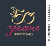 50 years anniversary vector... | Shutterstock .eps vector #591333233