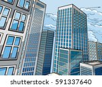 city skyscraper buildings... | Shutterstock .eps vector #591337640
