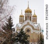 omsk  russia   february 21 ... | Shutterstock . vector #591338960