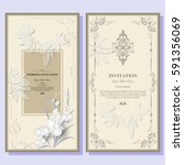 wedding invitation card  flyer... | Shutterstock .eps vector #591356069