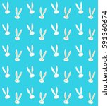 easter bunny pattern. vector... | Shutterstock .eps vector #591360674