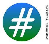 hashtag sign illustration.... | Shutterstock .eps vector #591365243