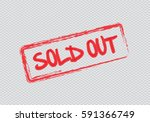sold out text rubber seal stamp ... | Shutterstock .eps vector #591366749