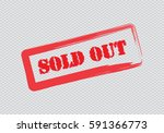 sold out text rubber seal stamp ... | Shutterstock .eps vector #591366773