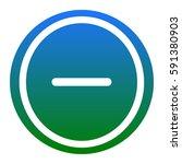 negative symbol illustration.... | Shutterstock .eps vector #591380903