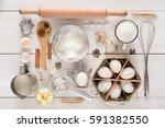 baking background. cooking... | Shutterstock . vector #591382550