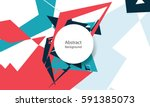 abstract random shapes random... | Shutterstock .eps vector #591385073
