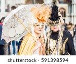 venice   italy   february 26 ... | Shutterstock . vector #591398594