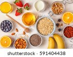 ingredients for a healthy... | Shutterstock . vector #591404438