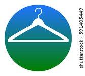hanger sign illustration.... | Shutterstock .eps vector #591405449