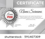 certificate template with... | Shutterstock .eps vector #591407309
