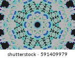illustration of a kaleidoscope  ... | Shutterstock . vector #591409979