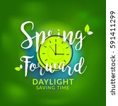 daylight saving time concept... | Shutterstock .eps vector #591411299