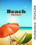 beach theme | Shutterstock .eps vector #59141266