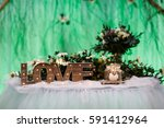 wooden love letters with... | Shutterstock . vector #591412964