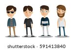 group of business men   working ... | Shutterstock .eps vector #591413840