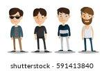 group of business men   working ... | Shutterstock .eps vector #591413840
