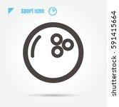 con bowling ball sport vector... | Shutterstock .eps vector #591415664