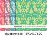 seamless pastel background set... | Shutterstock .eps vector #591417620