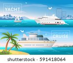 vector travel banners set.... | Shutterstock .eps vector #591418064