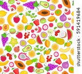 vector pattern of colored hand... | Shutterstock .eps vector #591419684