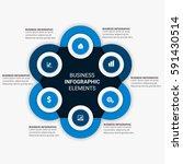 business timeline infographics | Shutterstock .eps vector #591430514