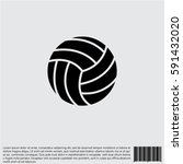 web icon. volleyball | Shutterstock .eps vector #591432020