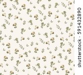 floral vector seamless pattern... | Shutterstock .eps vector #591432890