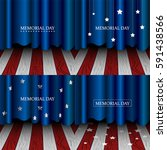 american memorial day graphic... | Shutterstock .eps vector #591438566