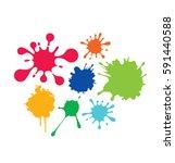 color blots   Shutterstock .eps vector #591440588