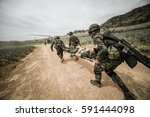 military rescue czech army... | Shutterstock . vector #591444098