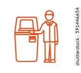 self service terminal icon... | Shutterstock .eps vector #591446654
