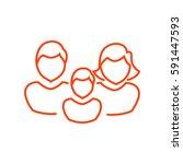 family icon flat. | Shutterstock .eps vector #591447593