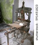 ancient printing press of... | Shutterstock . vector #591451823