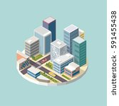 3d vector city  isometric 3d...