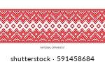 slavic red and belarusian... | Shutterstock .eps vector #591458684