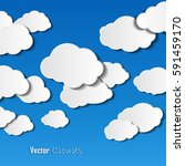 vector illestration of clouds... | Shutterstock .eps vector #591459170
