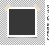 photo frame with adhesive ... | Shutterstock .eps vector #591463706