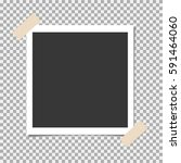 photo frame with adhesive ... | Shutterstock .eps vector #591464060