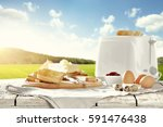 delicious breakfast in the... | Shutterstock . vector #591476438