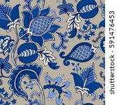 seamless pattern with fantasy... | Shutterstock .eps vector #591476453