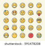 set of 25 minimalistic solid... | Shutterstock .eps vector #591478208