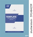 flyer concept brochure template ... | Shutterstock .eps vector #591484259
