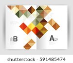 vector square leaflet  business ... | Shutterstock .eps vector #591485474
