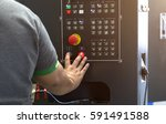 controls the cnc milling... | Shutterstock . vector #591491588