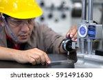 engineer measure inspection... | Shutterstock . vector #591491630