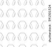 headphones seamless vector... | Shutterstock .eps vector #591501524