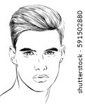 cute young man | Shutterstock .eps vector #591502880