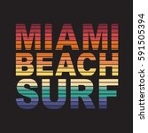surf miami sport typography ... | Shutterstock .eps vector #591505394