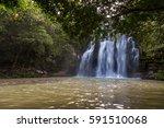 catarata falls captured shortly ...   Shutterstock . vector #591510068